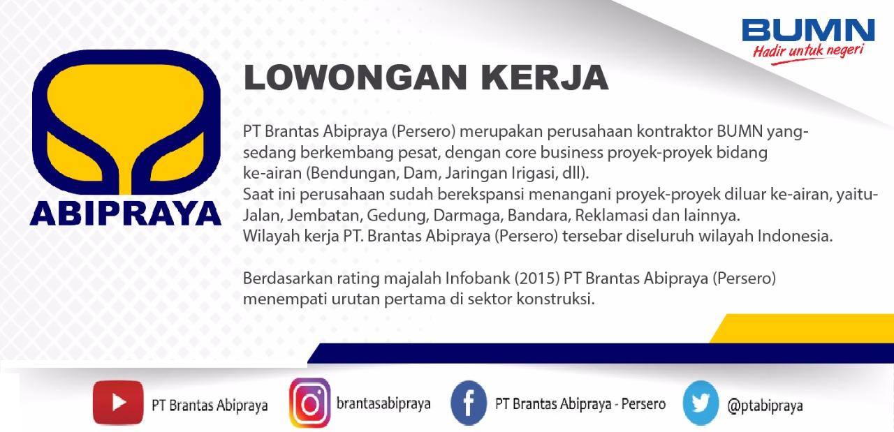 Lowongan Kerja Legal Officer Pt Brantas Abipraya Persero Ika Um